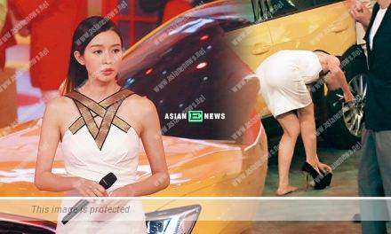 Louisa Mak wears high heels and nearly falls down several times