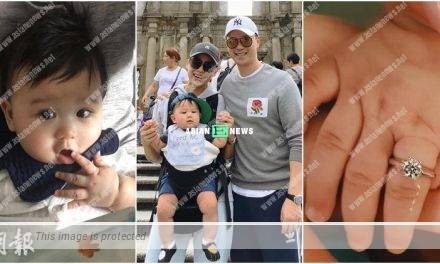 Myolie Wu's son, Brendan is given a ring by a jeweller
