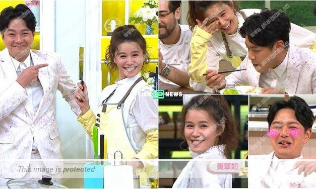 Edwin Siu and Priscilla Wong flirt with each other during cooking show