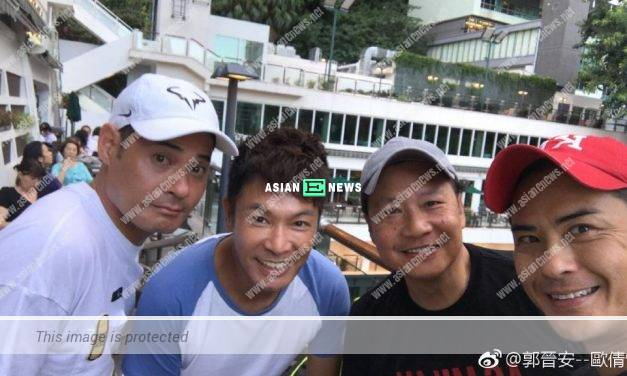 Where is Grace Chan? Kevin Cheng and Roger Kwok play tennis together