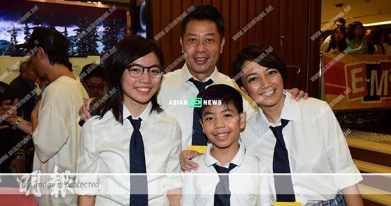 Winnie Young appears at the movie premiere with her family