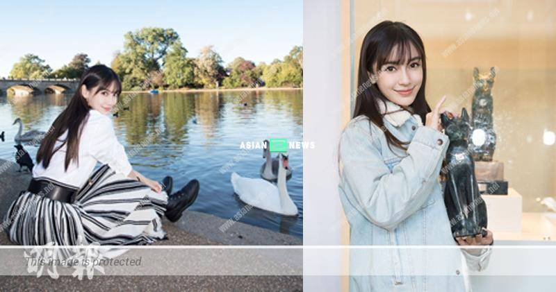 Angelababy experiences a different culture in London