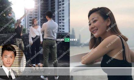 Bianca Wu stands on wooden blocks to speak to Vincent Wong