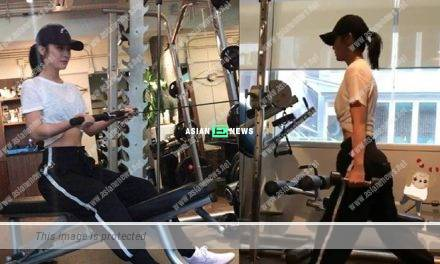Charlene Choi trains in gym before working at night