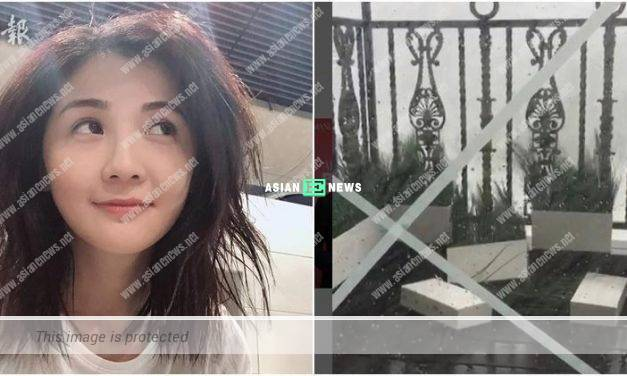 Charlene Choi's house balcony is in a bad state due to typhoon
