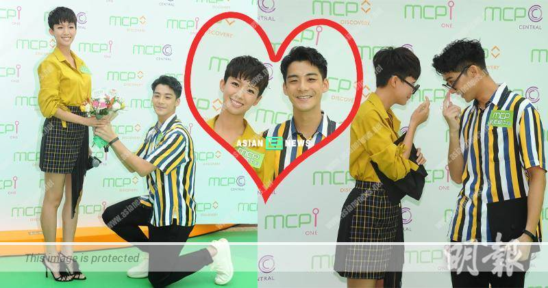 Sisley Choi and Dickson Yu attend an event as a couple team