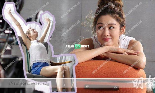 Eliza Sam wears hot shorts to shoot massaging advertisement