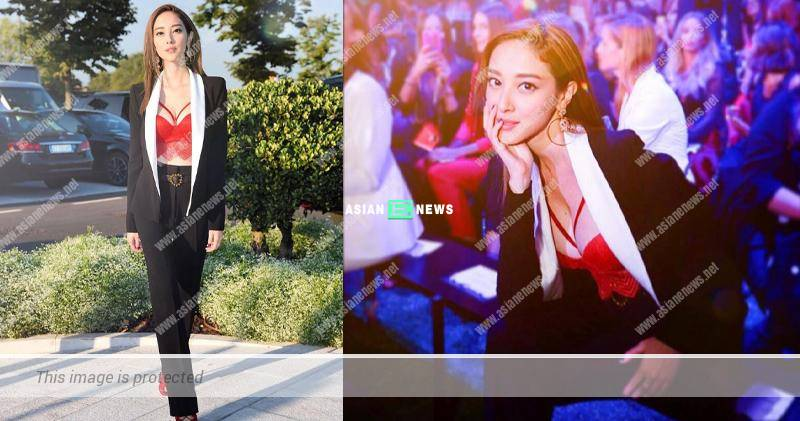 Grace Chan wears a fiery red bra; Is Kevin Cheng aware of it?