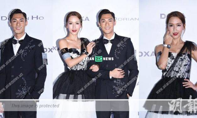 Kelly Fu and Kelvin Kwan attend fashion show as a couple team