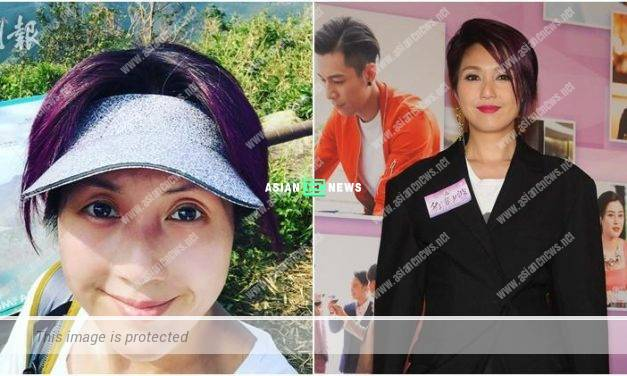 Miriam Yeung goes for hiking and her nose appears swollen