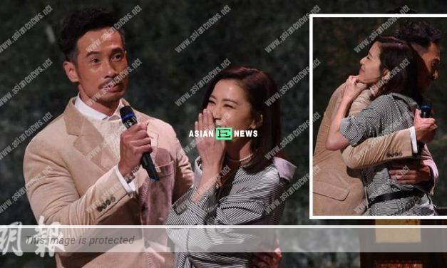 Moses Chan gives a surprise to Charmaine Sheh; They hug each other immediately