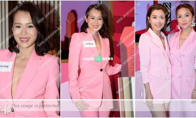 Myolie Wu wears a deep V jacket without the approval from her husband
