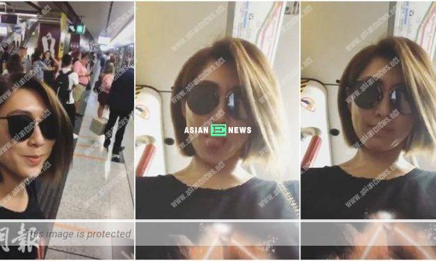 Bump into TV Queen at the train station? Nancy Wu takes selfies in the train