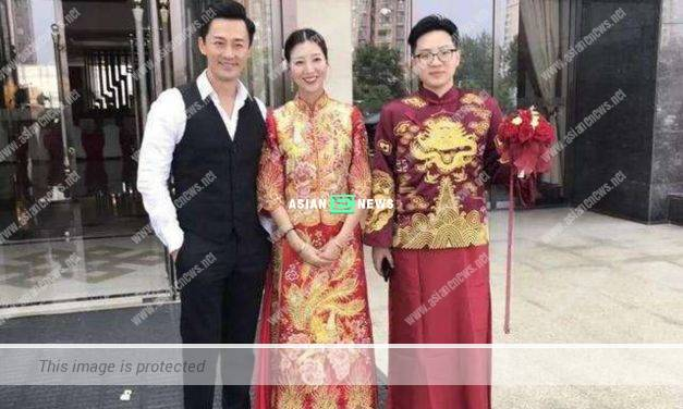 Raymond Lam is present at the wedding of Carina Zhang's brother