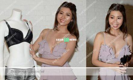 Sammi Cheung shoots lingerie advertisement with her 34D chest size