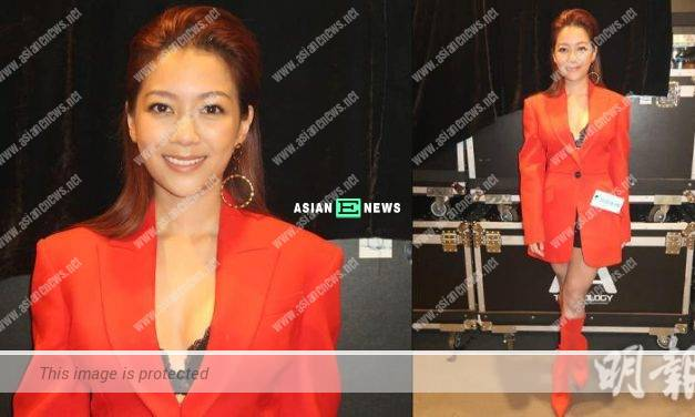 Stephanie Ho is dressed up sexily at Johnson Lee's musical concert