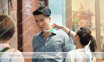 Vincent Wong and Natalie Tong perspire when shooting new drama