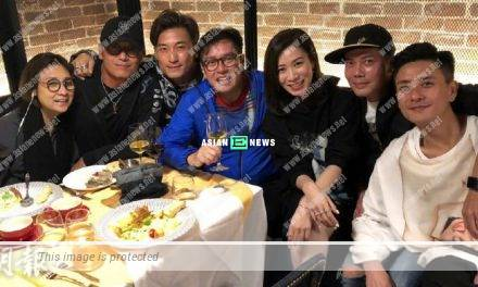 Alan Tam, Charmaine Sheh and Michael Mui have a gathering in Bosco Wong's restaurant