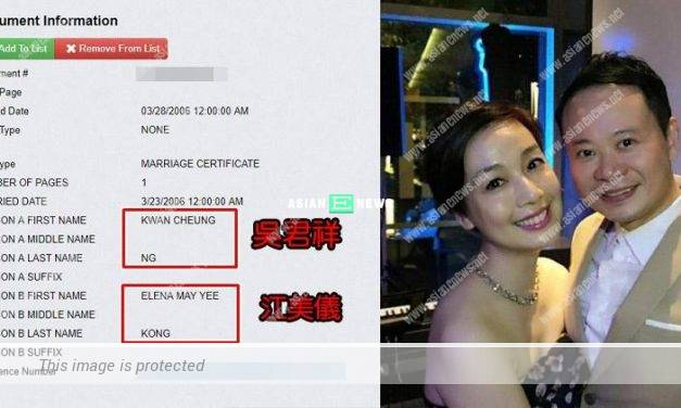 Elena Kong and Ng Kwan Cheung are married in 2006? She says she cannot remember