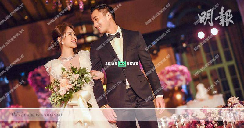 Gillian Chung and Michael Lai hold their wedding banquet in December 2018
