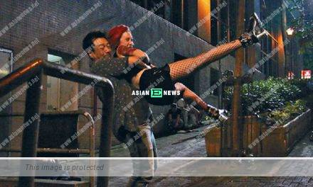 Wayne Lai and Katy Kung shoot intense fighting scene for 6 hours