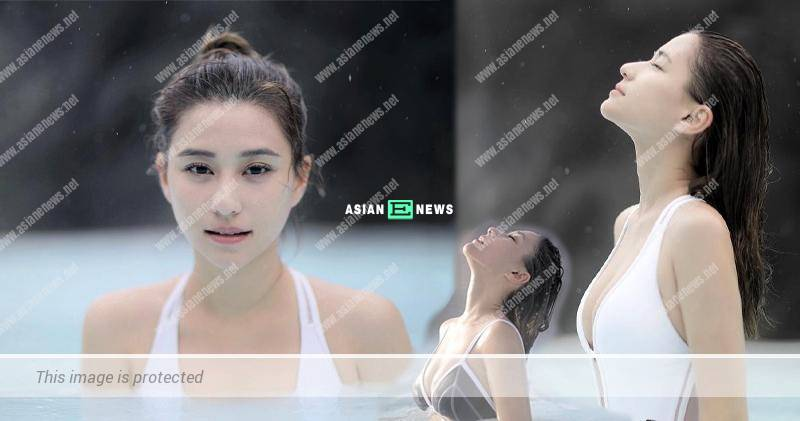 Laurinda Ho enjoys her spa in Iceland
