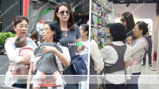 Lynn Hung buys baby products with her family at the Central