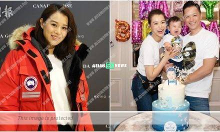 Myolie Wu's son receives many toys as his birthday gifts