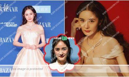 Yang Mi looks haggard? Her work studio shares her beautiful photos