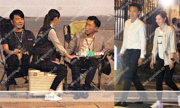 Crystal Fung approaches Jonathan Cheung behind her boyfriend back