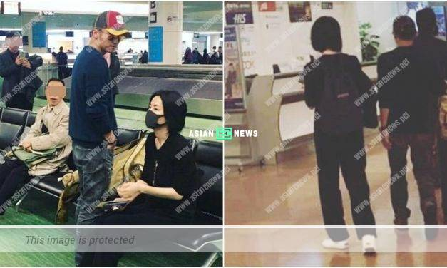 An old couple? Nicholas Tse helps Faye Wong to carry luggage