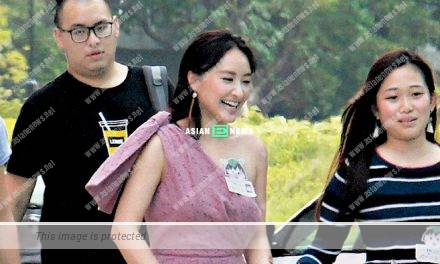 Jeannie Chan continues to smile happily after receiving a fine
