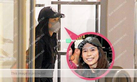 Karen Mok has a good disguise at the shopping mall