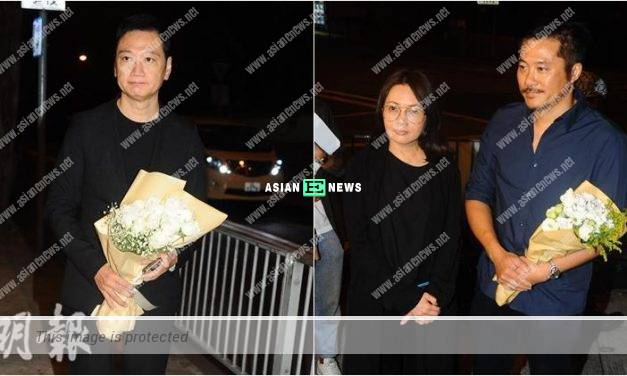 Memorial Ceremony for Yammie Lam: Michael Tao turned up with white roses