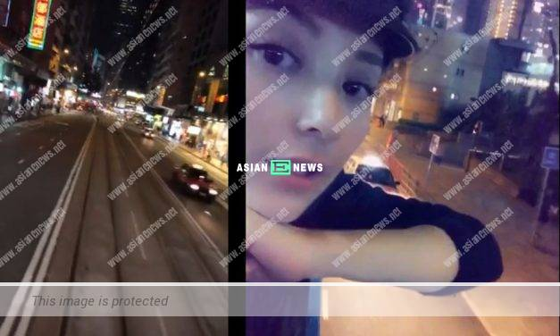 Aaron Kwok's wife, Moka Fang takes a tram ride and is praised as thrifty woman