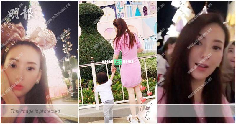 Moka Fang takes her daughter, Chantelle to the theme park