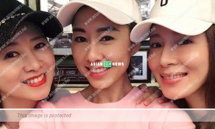 Yvonne Yung, Nancy Wu and Tavia Yeung have a happy gathering