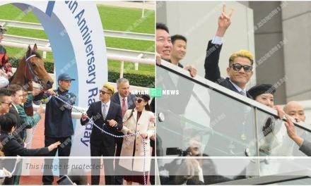 Aaron Kwok rides on his new horse and becomes the champion