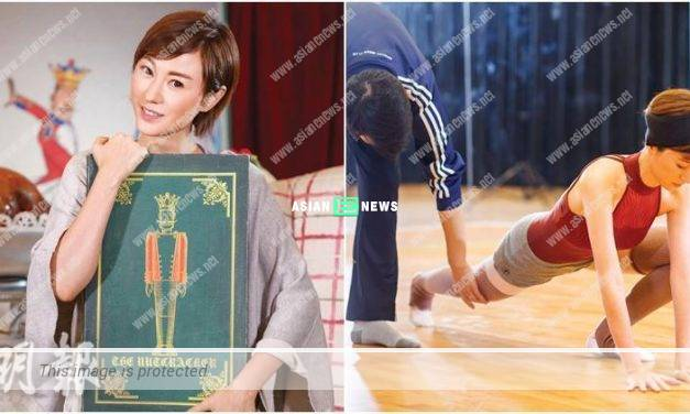 Annie Liu's tears come down when doing stretching exercises daily