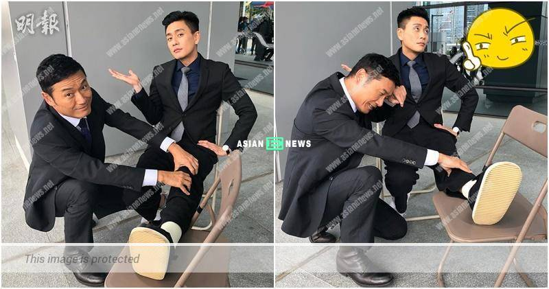 Lucky Bosco Wong getting a full massage from Michael Miu
