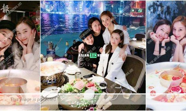 Grace Chan, Jess Sum, Zoie Tam and Katy Kung have hot pot during the gathering