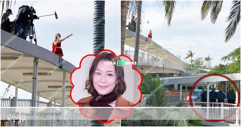 Kristal Tin shoots new drama at the rooftop and alerts the firemen
