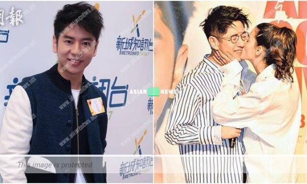 Alfred Hui enjoys it when a model kisses him on the stage