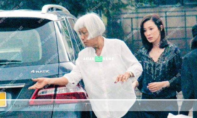 Charmaine Sheh's mother approaches a hunk for massage