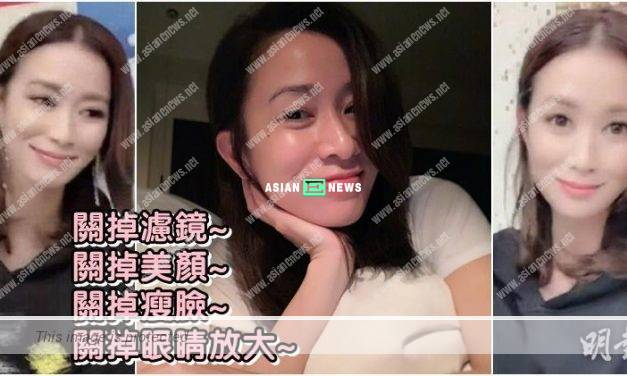 Charmaine Sheh transforms into a different person after using an editing application