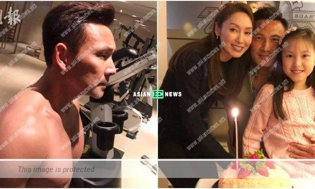 51 years old Frankie Lam has a muscular body after training for 2 months