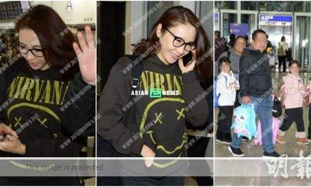 48 years old Gigi Lai and her 3 daughters return to Hong Kong