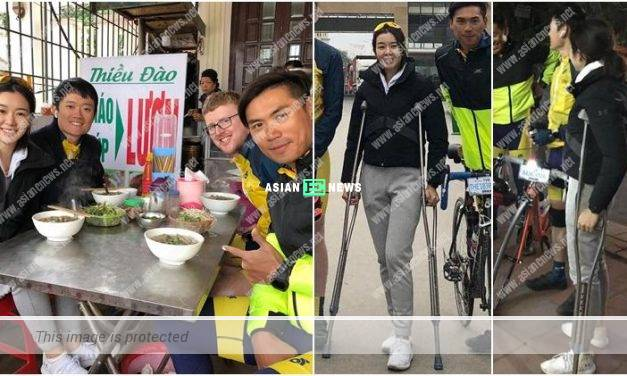 Louisa Mak has an accident when cycling from Hong Kong to Cambodia