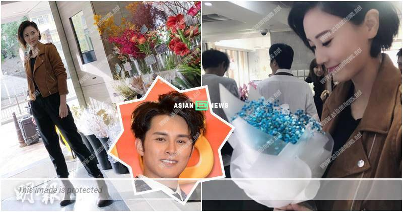 Is Rebecca Zhu hinting to Matthew Ho? She receives flowers at the location shooting