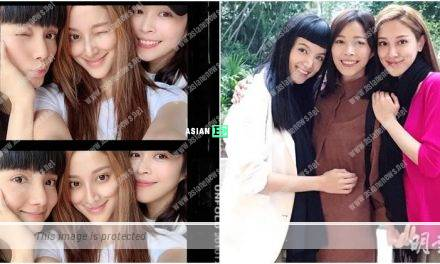 Anjaylia Chan, Grace Chan and Winki Lai take photos together